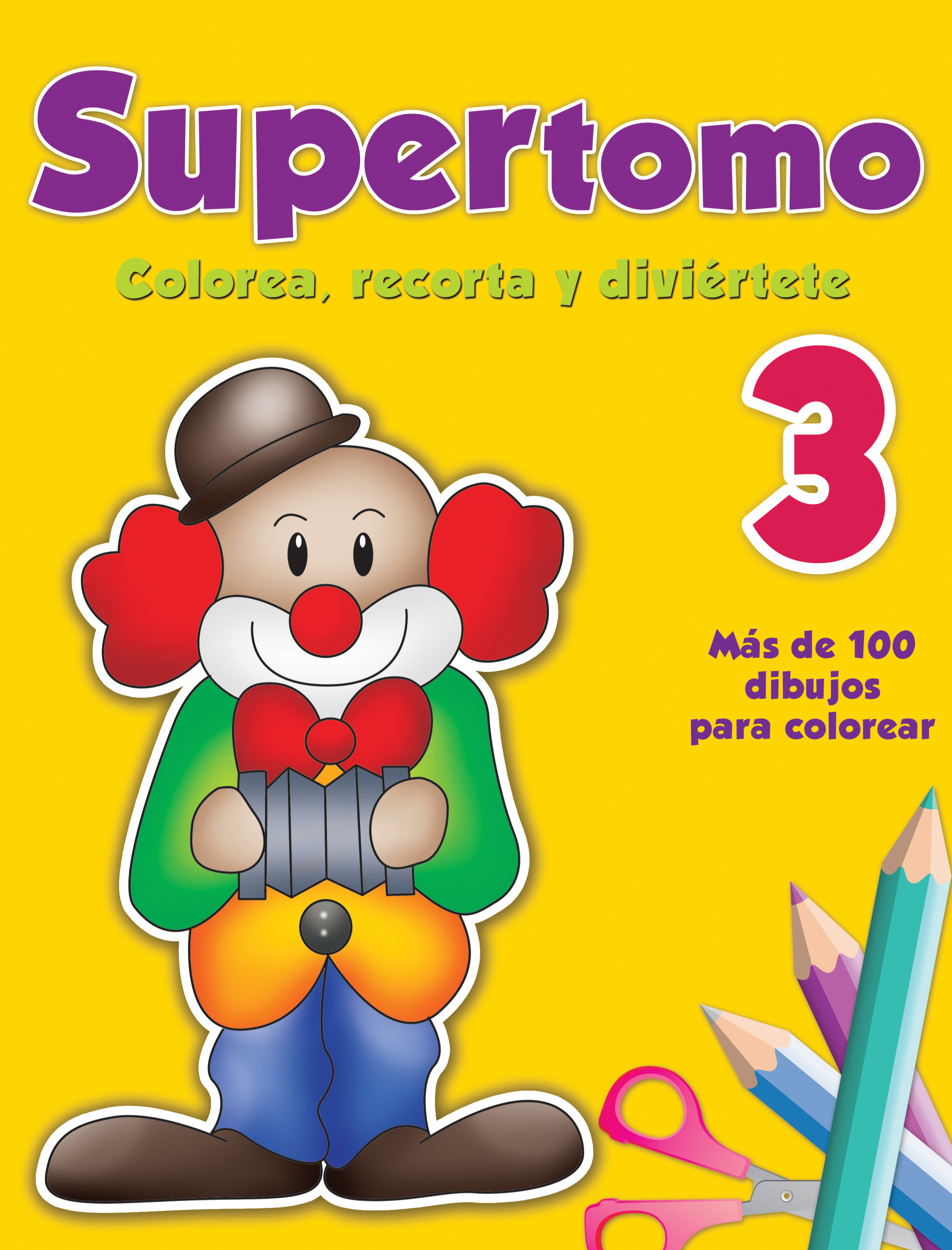 Supertomo 3. Colorea, recorta y diviértete